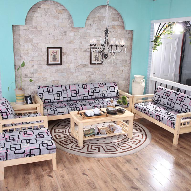 青岛一木家具 实木沙发组合