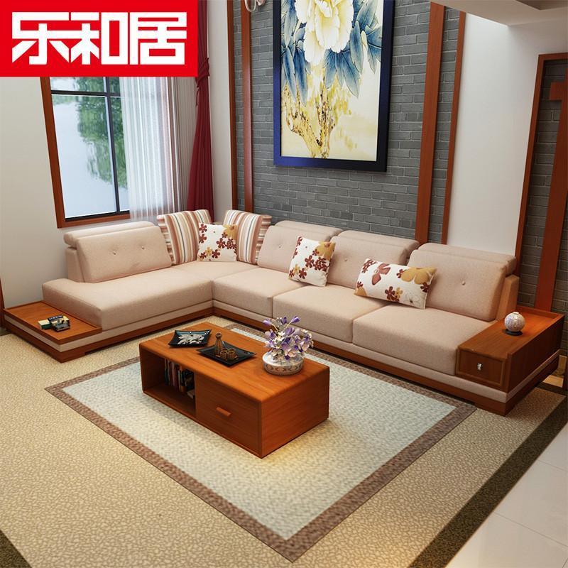 实木沙发 中式现代沙发