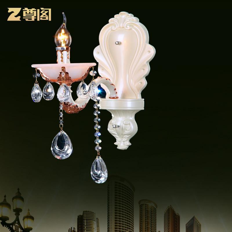 欧式进口云石水晶灯 别墅客厅餐厅卧室书房水晶壁灯6