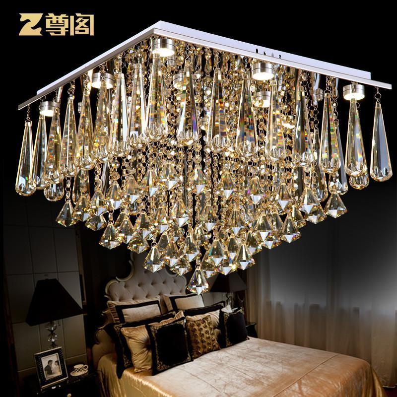 欧式奢华水晶吸顶灯 客厅餐厅长方形水晶灯z071