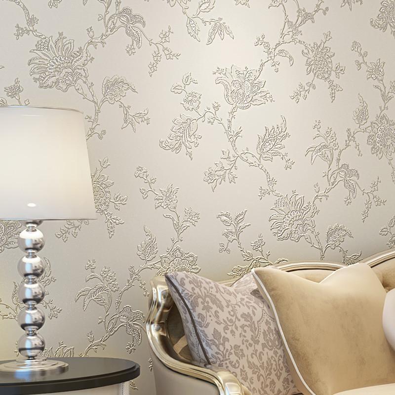 纸尚美学无纺布墙纸卧室 温馨壁纸欧式田园墙纸 3d电视背景墙壁纸图片