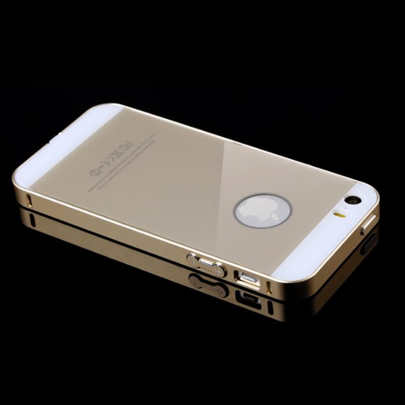 苹果5s圆弧金属边框iphone5土豪金手机壳