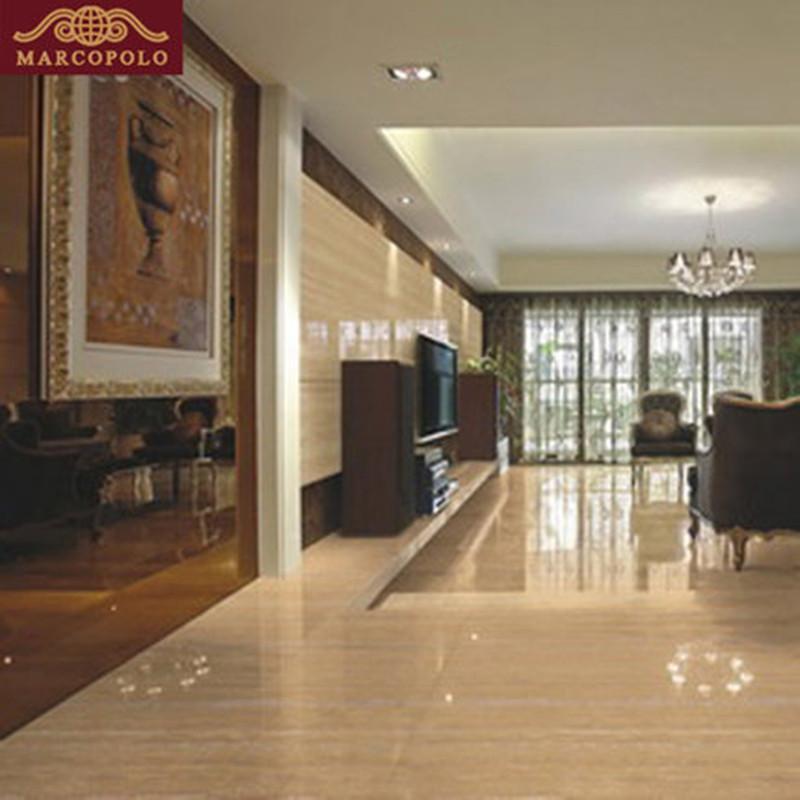 马可波罗瓷砖法兰西木纹玻化砖抛光砖600*600客厅