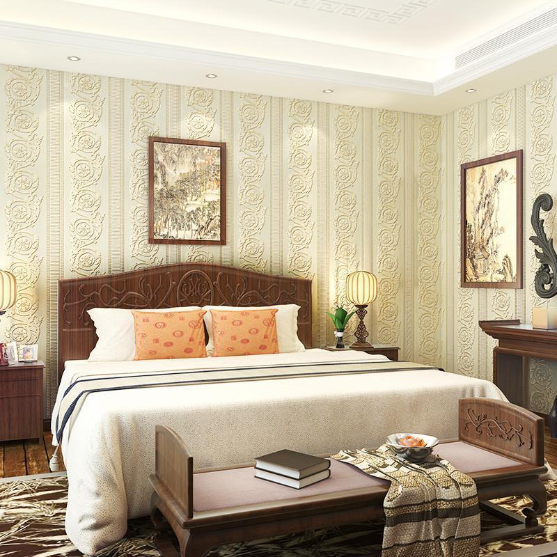 旗航壁纸 欧式无纺布3d立体壁纸 客厅卧室满铺电视背景墙纸sno-h