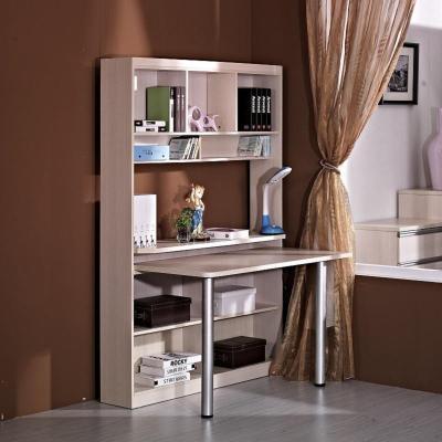 多功能转角电脑桌 带书柜书架组合