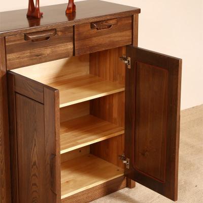 榆木中式实木鞋柜柜 中式客厅实木家具