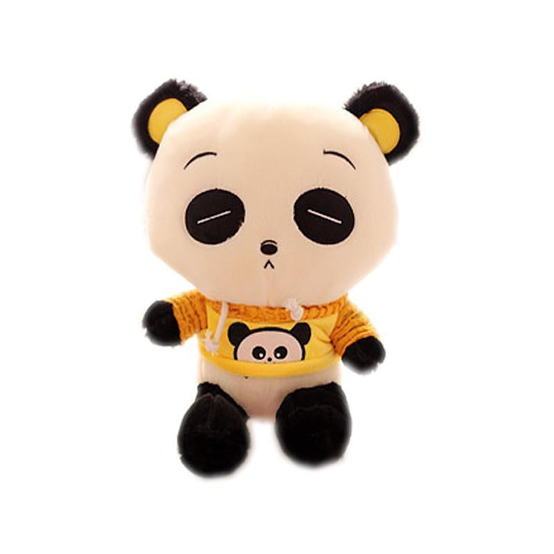 luckyted可爱卡通熊猫公仔穿衣服熊毛绒玩具儿童玩偶