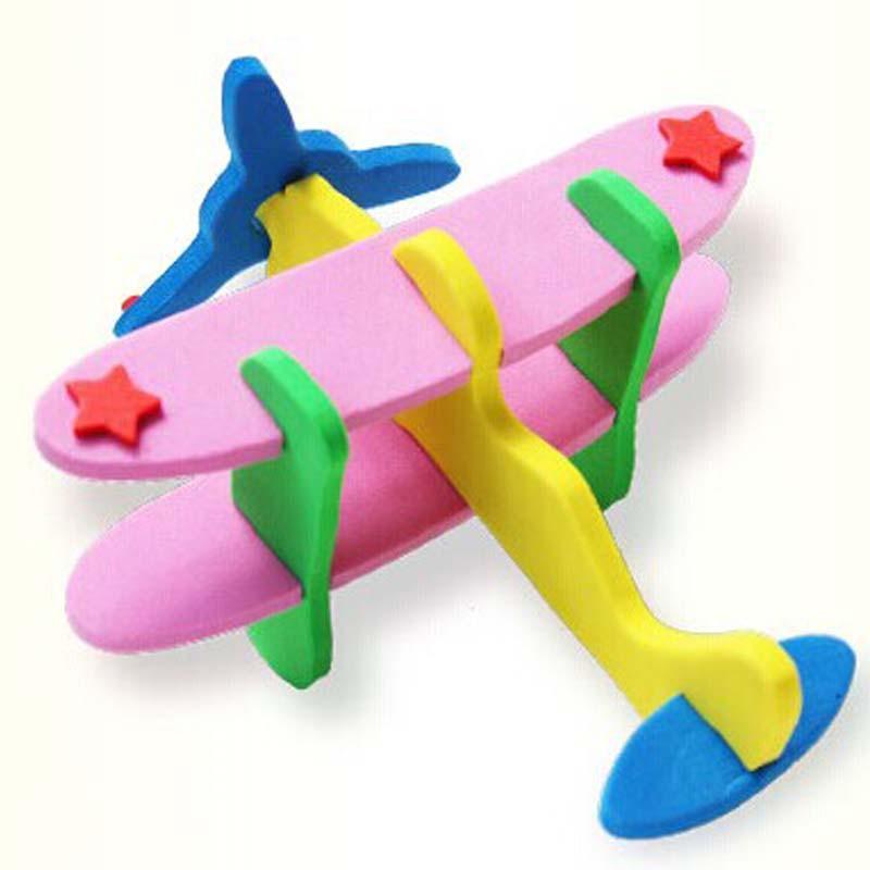 飞机模型 粘贴画 宝宝手工制作diy贴纸儿童拼图玩具