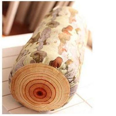 个性创意木头桩毛绒玩具 砧板大树抱枕年轮靠垫 沙发靠枕生日礼物p