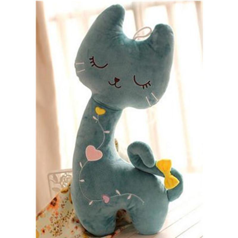 可爱爱心小猫咪毛绒玩具公仔大号睡觉抱枕 送女生生日礼物p 粉红色60