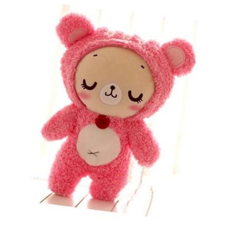 可爱卡通松鼠熊公仔 眯眼情侣泰迪熊毛绒玩具玩偶