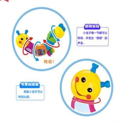 可爱小虫子扭扭玩具儿童益智玩具儿童 锻炼手眼协调玩具 kl