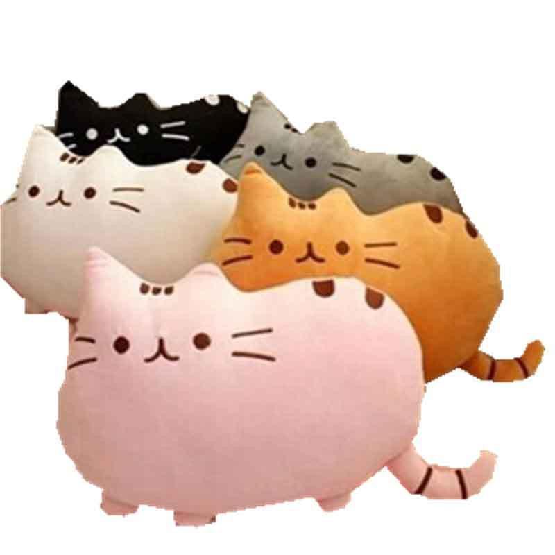 可爱饼干猫毛绒玩具公仔萌物胖猫咪抱枕家居车载办公