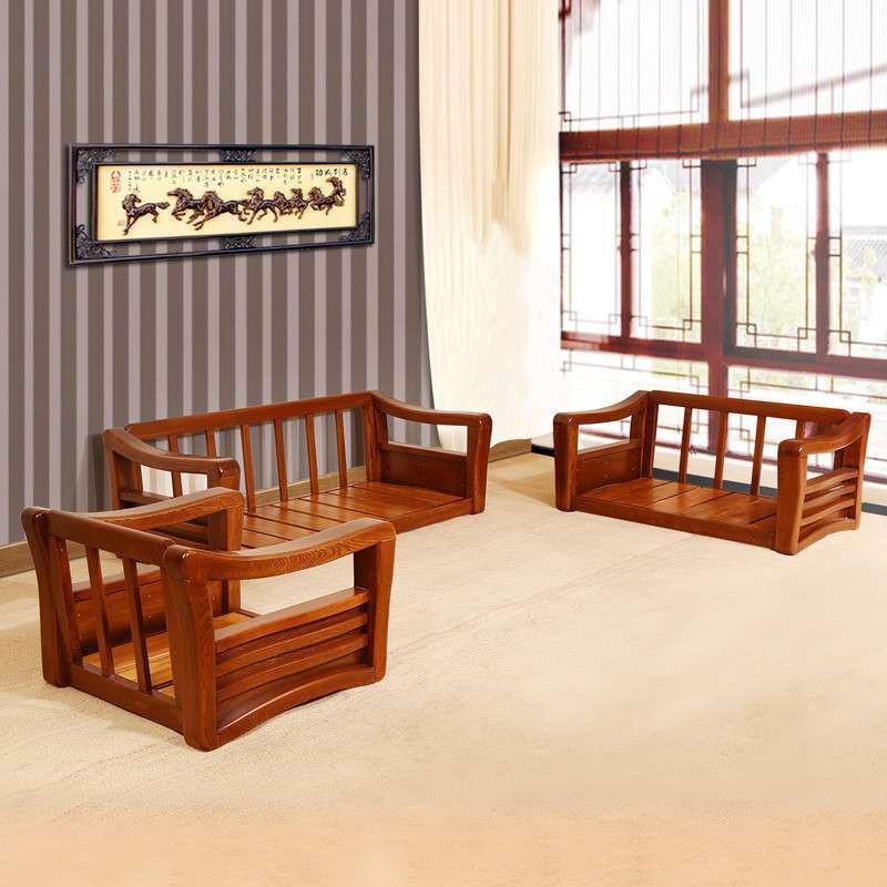 家居/家装建材/厨具 家具 客厅/餐厅家具 初林 初林榆木实木沙发现代