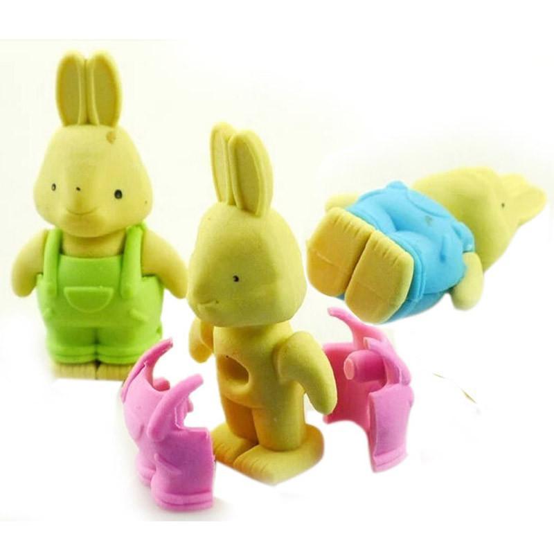 乐婴坊 卡通拆装橡皮 可爱彼得兔公仔橡皮擦 学生必备
