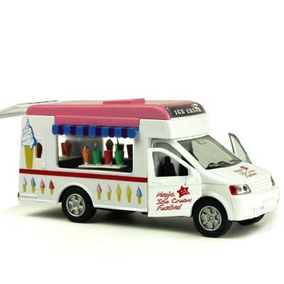 兒童玩具合金車 冰激凌房車冷飲