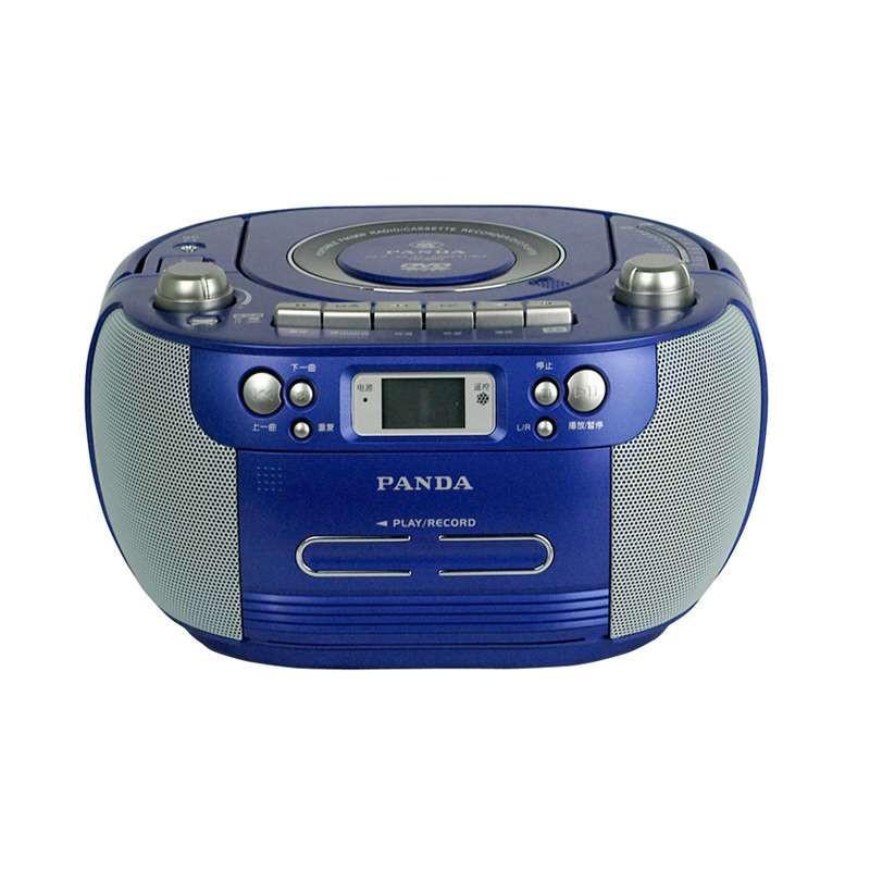 熊猫便携式DVD播放机CD-800 蓝 磁带收音机USB数码播放