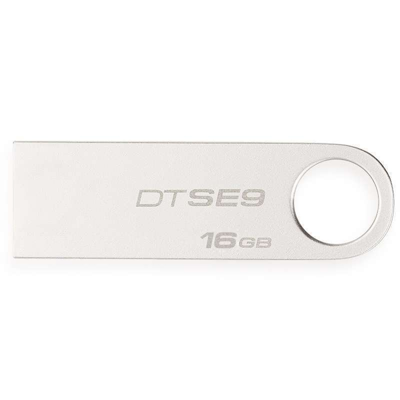 金士顿(Kingston)DTSE9 16GB U盘 (银灰)