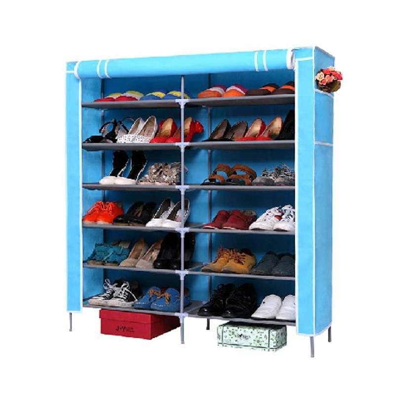 宜家款拼装鞋盒 大号布衣柜衣橱带鞋架