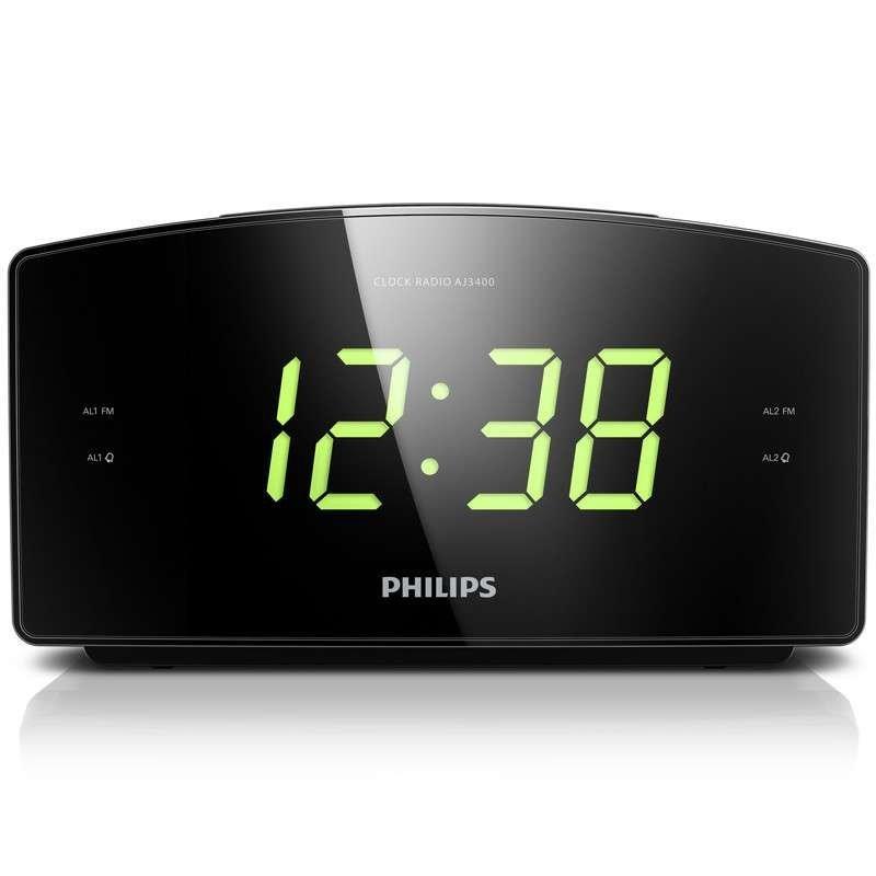 飞利浦(PHILIPS)AJ3400/93 时钟收音机 黑色