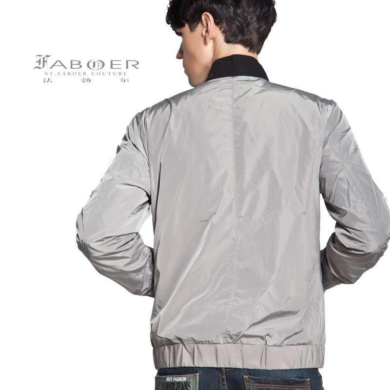 法勃尔 13秋冬男装新款 时尚英伦薄夹克衫 修身立领短