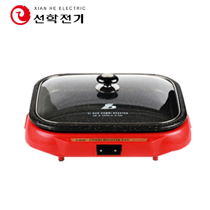 仙鹤电烤盘SC-1350WT韩式无烟不粘家用麦饭石电烤盘电烧烤炉多功能铁板烧