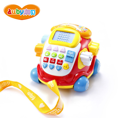 AUBY 澳贝 启智系列 电子汽车电话 1-3岁塑料拖拉玩具 999g 463429DS