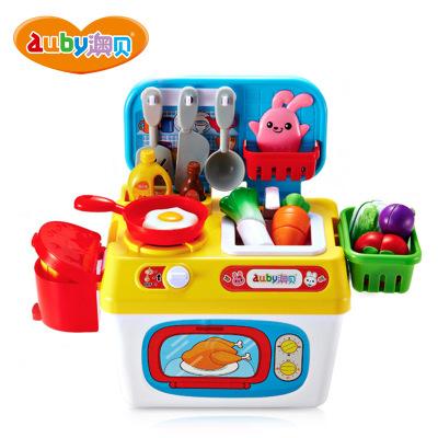 澳贝(AUBY) 益智玩具 魔幻厨房 过家家仿真婴幼儿童厨房切切乐 3-6岁塑料拼插玩具 463453DS