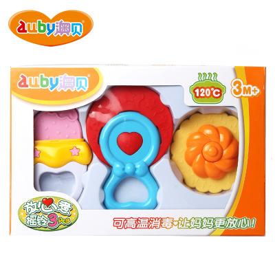 AUBY 澳贝 摇铃系列 放心煮摇铃 塑料玩具245*53*163 0-6个月 3PCS 463158DS