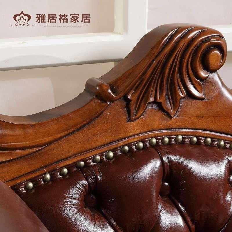 欧式贵妃椅 新古典贵妃榻 美人靠 贵妃躺椅沙发床太妃椅实木真皮