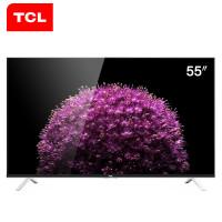TCL D55A561U 55英寸 超高清4K 内置WIFI 10核安卓液晶智能云电视(黑色)