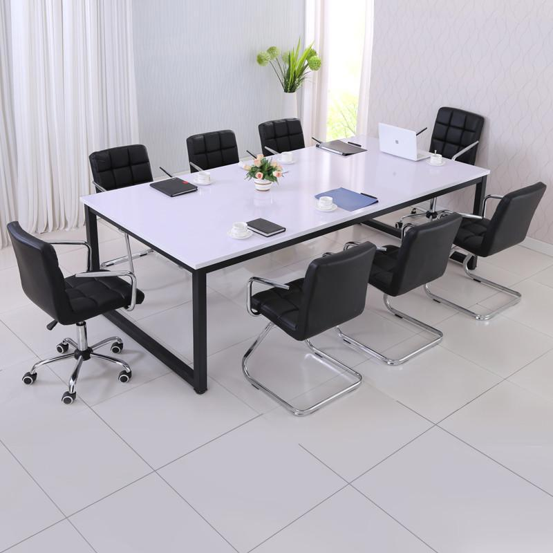 邦诺 大小型会议桌 简约现代员工培训洽谈长条会议桌laos 180*120颜色