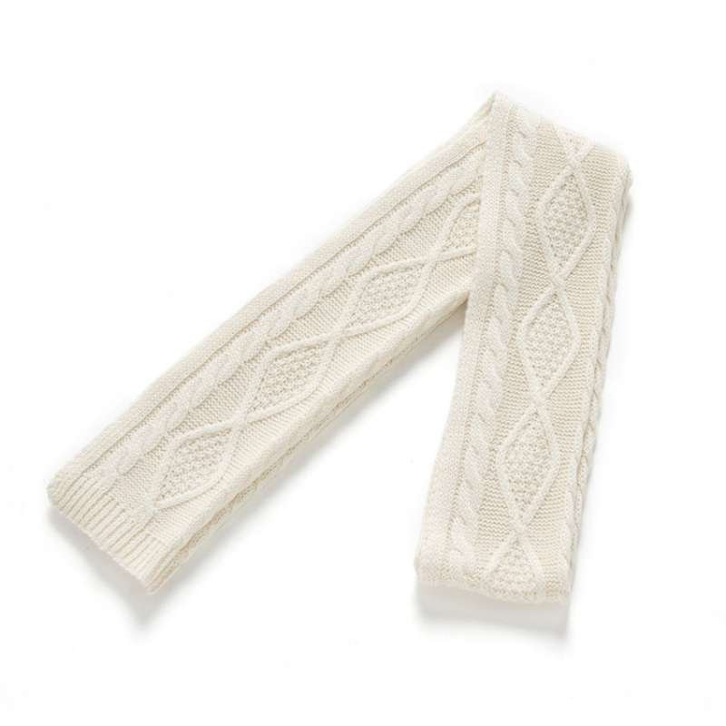 hanp汉麻世家男士羊毛围巾保暖针织菱形格子围脖时尚百搭棉麻围巾