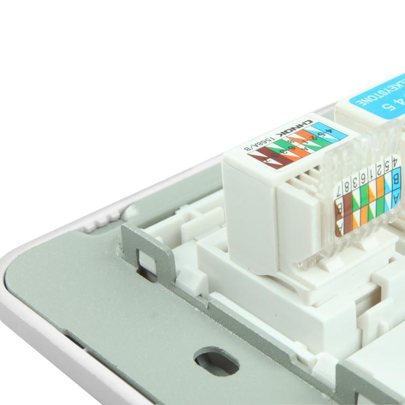 欧普86型电工面板墙壁开关插座防漏电安全 电话电脑插