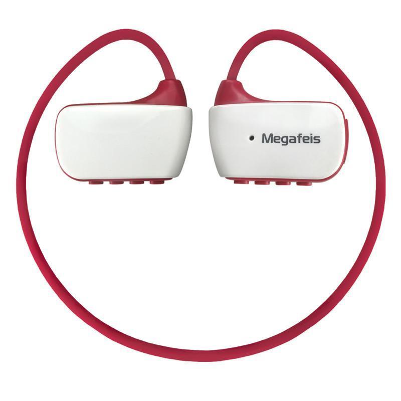 麦格菲斯(Megafeis)E350 智能防水头戴式运动MP3 蓝牙耳机 红白16G