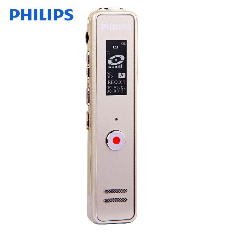飞利浦(PHILIPS)VTR5100 8GB 录音笔 香槟金