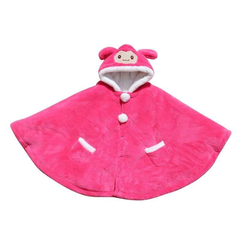 儿童婴儿披风斗篷外出披肩秋冬款加厚保暖防风带帽宝宝睡袋