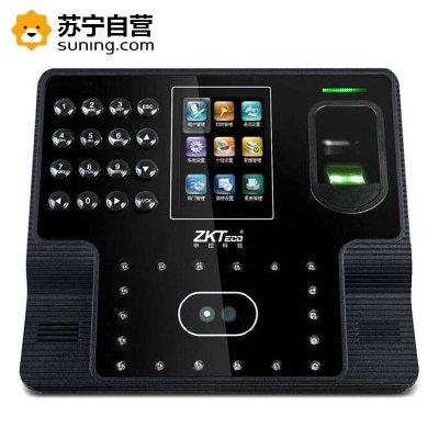 zkteco中控智慧iFace102人脸识别式指纹打卡机面部签到机双摄像头人脸/指纹/ 密码彩色屏