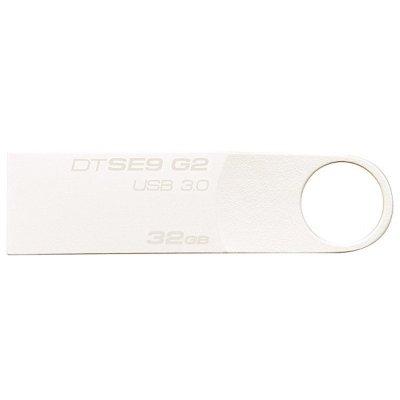金士顿(Kingston)DTSE9G2 32GB USB3.0 亮薄磨砂金属U盘(亮银)