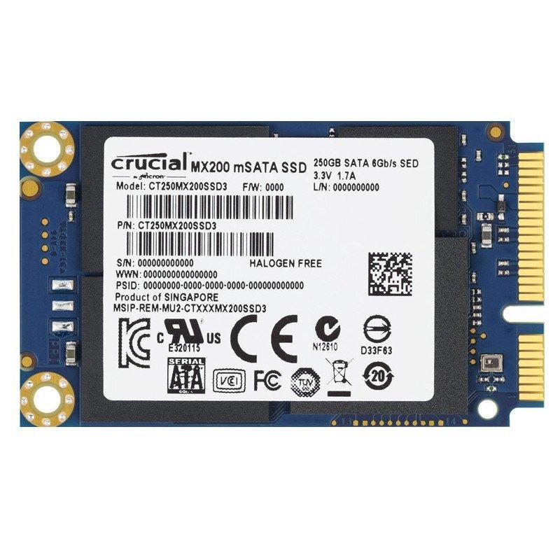 英睿达(Crucial)MX200系列250G SSD固态硬盘MSATA(CT250MX200SSD3)