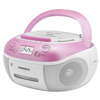 熊貓(PANDA) CD-860 紅色 DVD/VCD/CD播放機收錄機復讀機磁帶U盤TF卡轉錄復讀CD-850升級版