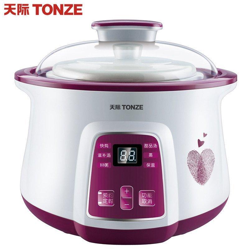 天际(TONZE)DGD18-18BWG微电脑隔水电炖锅紫色