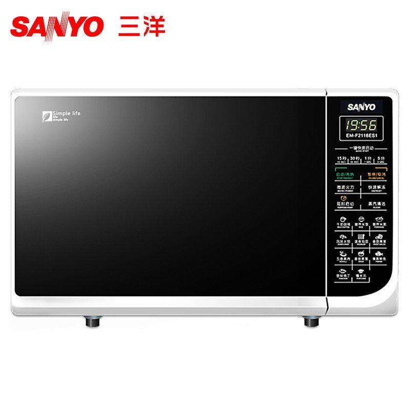 三洋(SANYO) 微波炉 EM-F2116ES1 平板 21L 微电脑