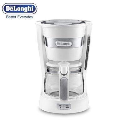 德龙(DeLonghi) ICM14011.W 滴滤式咖啡机家用咖啡壶迷你美式泡茶机正品行货全国联保(白色)