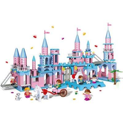 邦宝创意小颗粒拼插积木益智玩具别墅房子3合1莱茵小筑8369