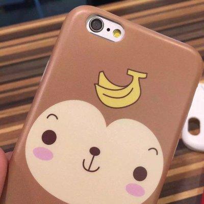 亿城(yicheer)iphone6卡通猴子6p创意花样式小猴子手机壳6p保护套