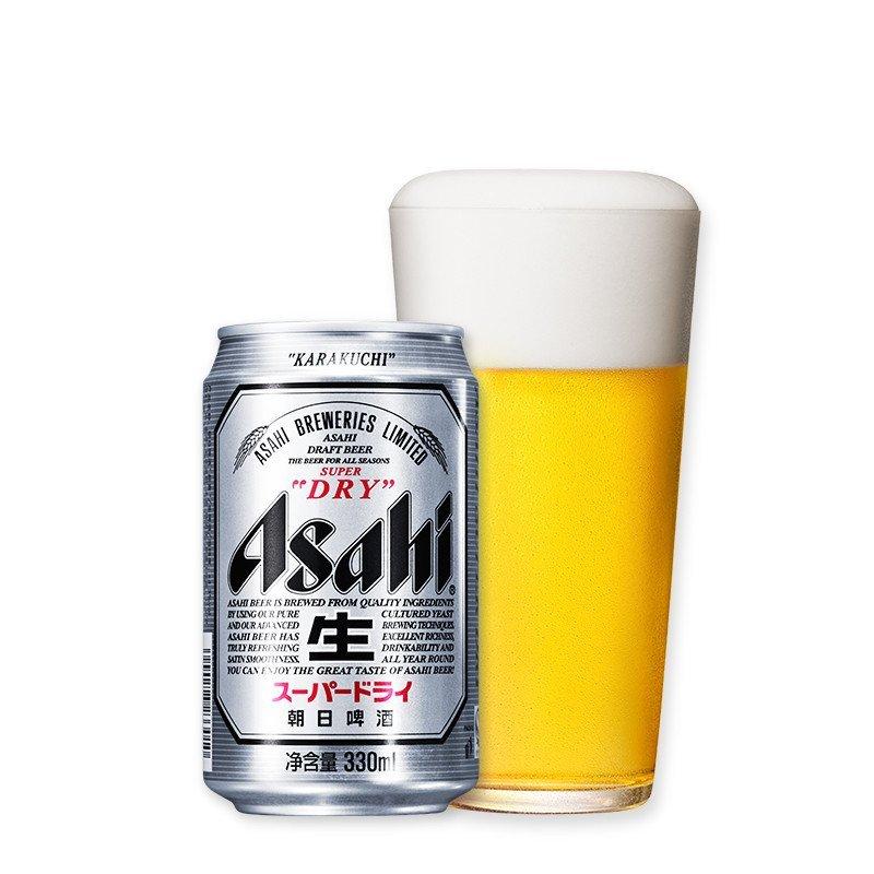 朝日啤酒超爽330ml*24罐整箱