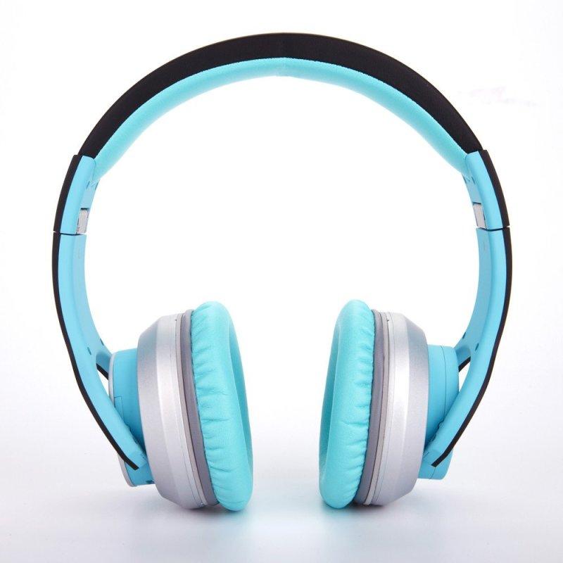 赛尔贝尔(SYLLABLE) G800-004 头戴式蓝牙4.0耳机 重低音双重降噪 海洋蓝色