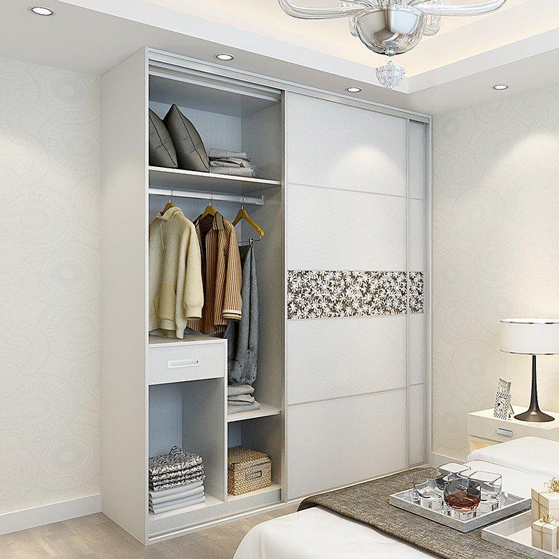 科凡衣柜简约现代 整体定制衣柜推拉门成品移门卧室家具板式衣柜