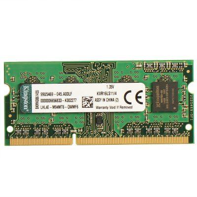 金士顿(Kingston) KVR DDR3 1600 4GB 笔记本电脑内存条 (1.35v低电压)